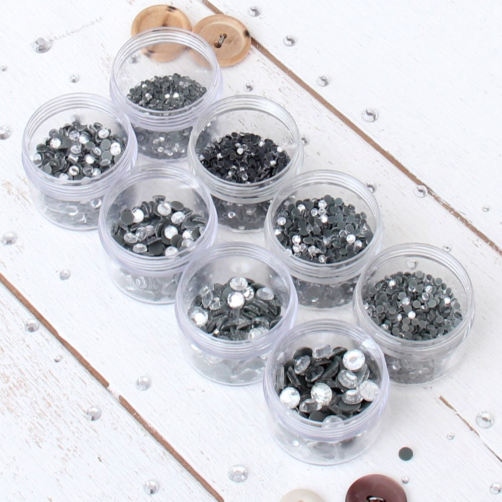 Hot Fix Rhinestones Crystal Set - All 8 Sizes - SS6, SS8, SS10, SS12, SS16, SS20, SS30, SS34 - Threadart.com