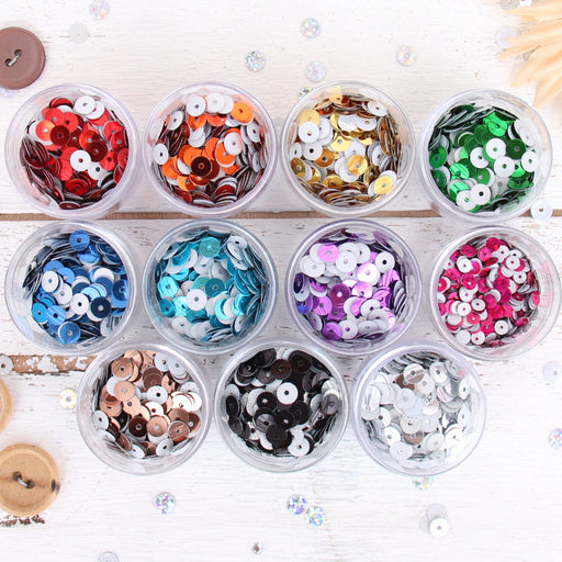 HotFix Loose Sequins - 6MM Metallic Set - 11 Colors - Threadart.com