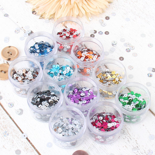HotFix Loose Sequins - 4MM Metallic Set - 11 Colors - Threadart.com