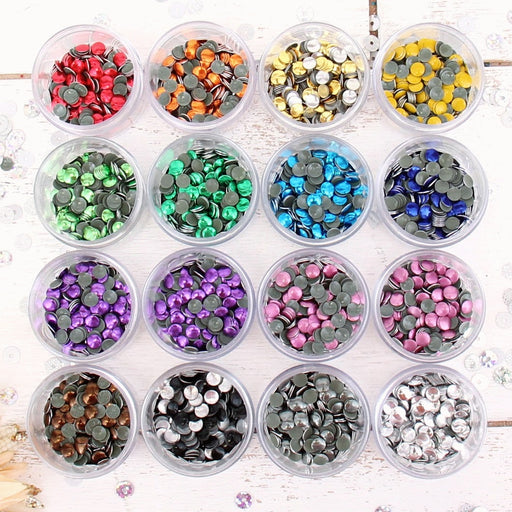 Hot Fix Metallic Nailhead Set - 5mm - 16 Colors - Threadart.com