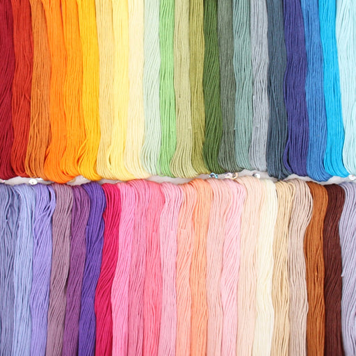 50 Color Premium Cotton Embroidery Floss Set - Six Strand Thread - Threadart.com