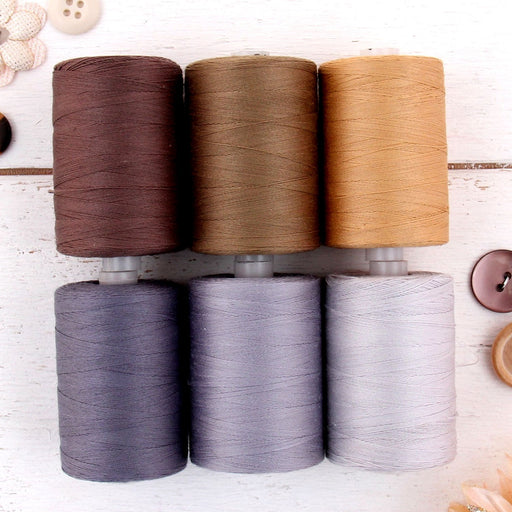 Cotton Quilting Thread Set - 6 Traditional Tones - 1000 Meters - Threadart.com