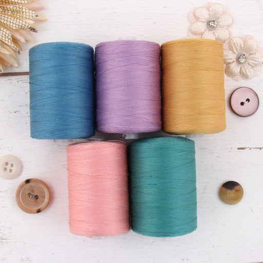 Cotton Quilting Thread Set - 5 Spring Bouquet - 1000 Meters - Threadart.com