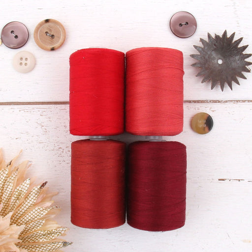 Cotton Quilting Thread Set - 4 Red Tones - 1000 Meters - Threadart.com