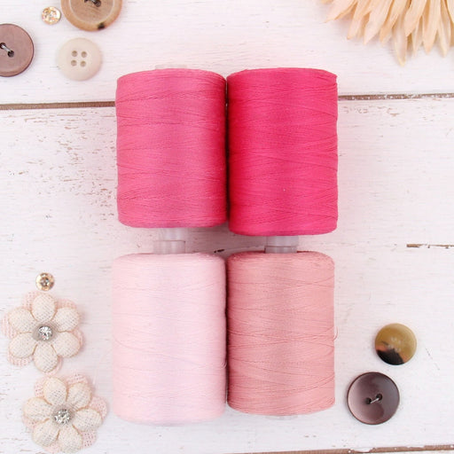 Cotton Quilting Thread Set - 4 Pink Tones - 1000 Meters - Threadart.com