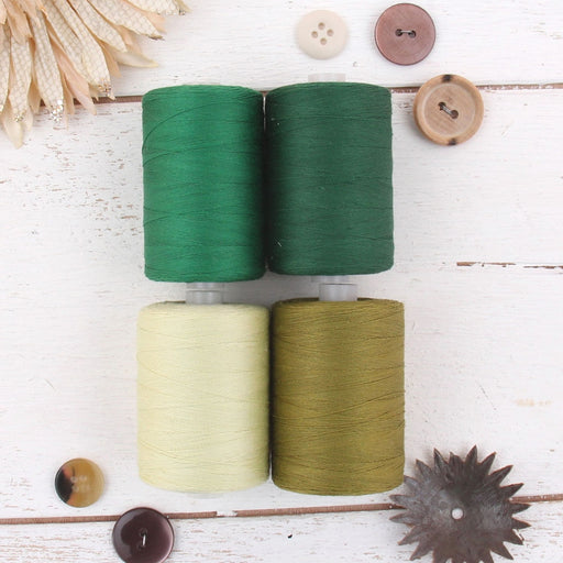 Cotton Quilting Thread Set - 4 Green Tones - 1000 Meters - Threadart.com
