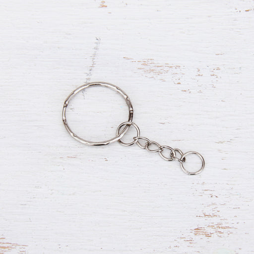 Key Chain with Silver Metal Ring - Threadart.com
