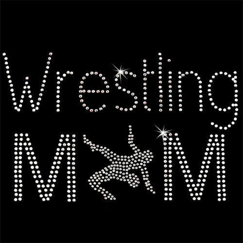 Hot Fix Heat Transfer Rhinestone Motif Wrestling Mom 1 - Threadart.com