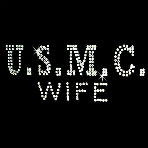 Hot Fix Motif USMC Wife - Threadart.com
