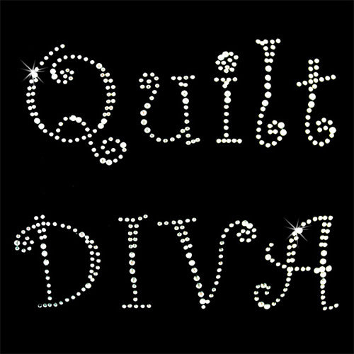 Hot Fix Heat Transfer Rhinestone Motif Quilt Diva - Threadart.com