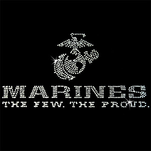 Hot Fix Heat Transfer Rhinestone Motif Marines 2 - Threadart.com