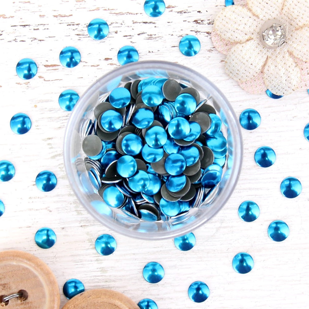 Hot Fix Metallic Nailheads 5mm Blue Zircon - 2 gross - Threadart.com
