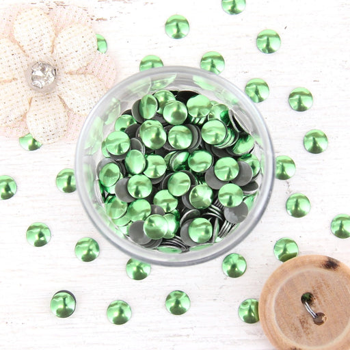 Hot Fix Metallic Nailheads 5mm Peridot - 2 gross - Threadart.com