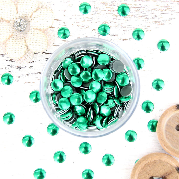 Hot Fix Metallic Nailheads 5mm Olivine - 2 gross - Threadart.com