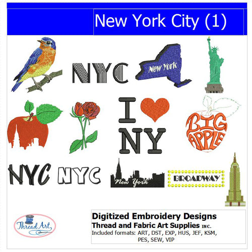 Machine Embroidery Designs - NYC(1) - Threadart.com