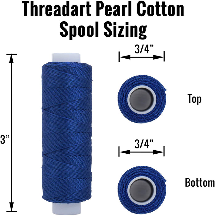 Perle (Pearl) Cotton Thread  - Size 8 - Black - 75 Yard Spools - Threadart.com