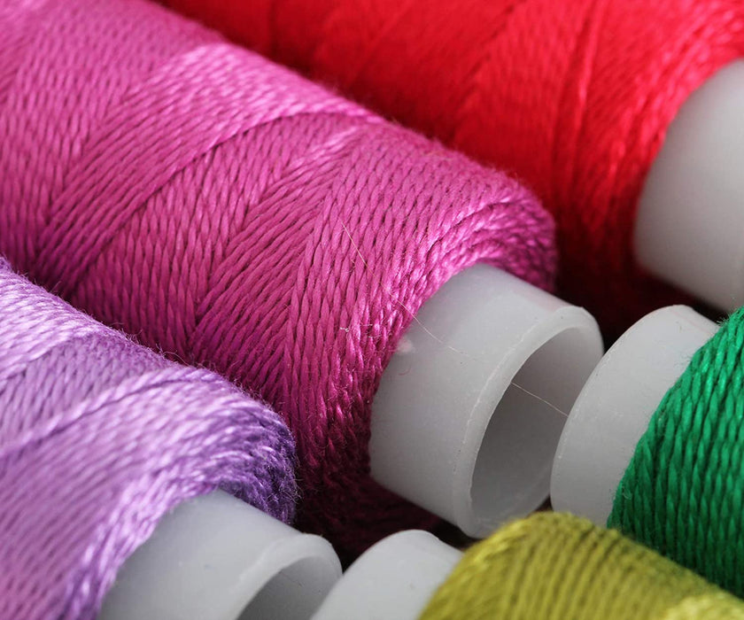 Perle (Pearl) Cotton Thread  - Size 8 - Rose - 75 Yard Spools - Threadart.com