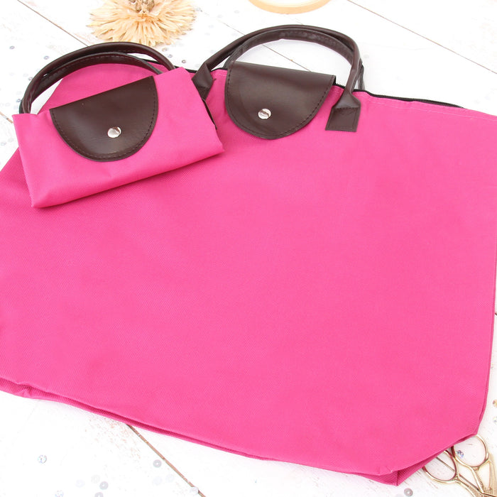 Foldable Shopping Bag Oxford - Hot Pink - Threadart.com