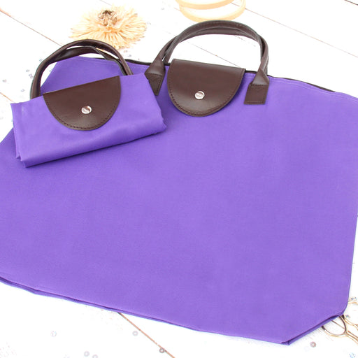 Foldable Shopping Bag Oxford - Purple - Threadart.com