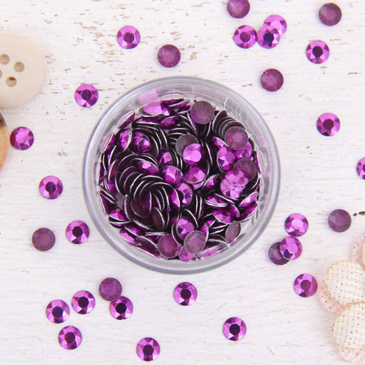 Hot Fix Metallic Rhinestones 6mm Amethyst - 1 gross - Threadart.com
