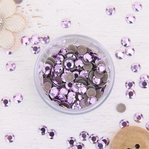 Hot Fix Metallic Rhinestones 6mm Lt. Amethyst - 1 gross - Threadart.com