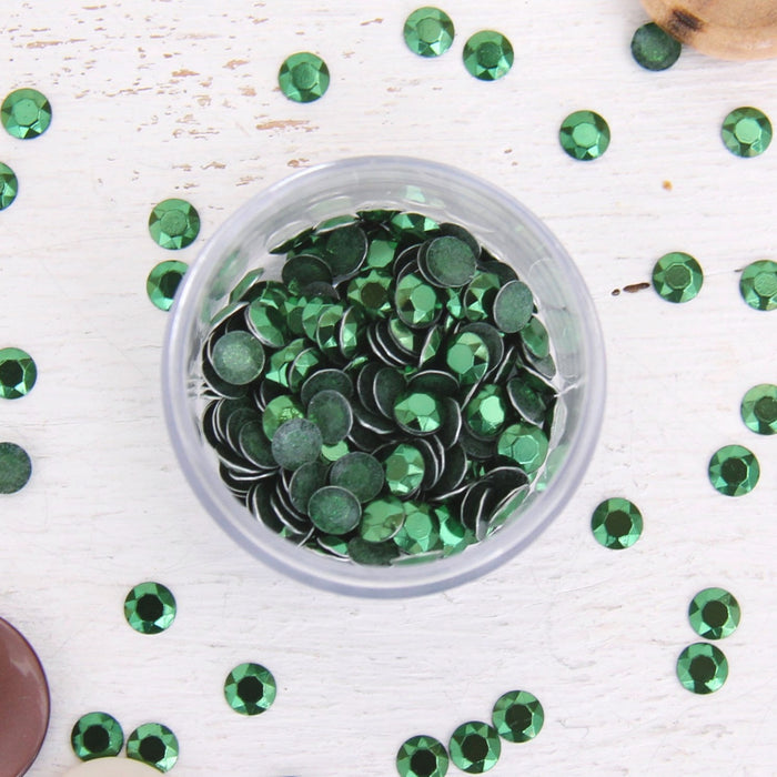 Hot Fix Metallic Rhinestones 4mm Olivine - 4 gross - Threadart.com