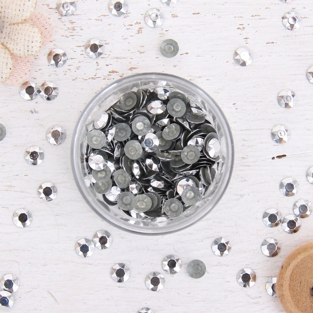 Hot Fix Metallic Rhinestones 6mm Silver - 1 gross - Threadart.com