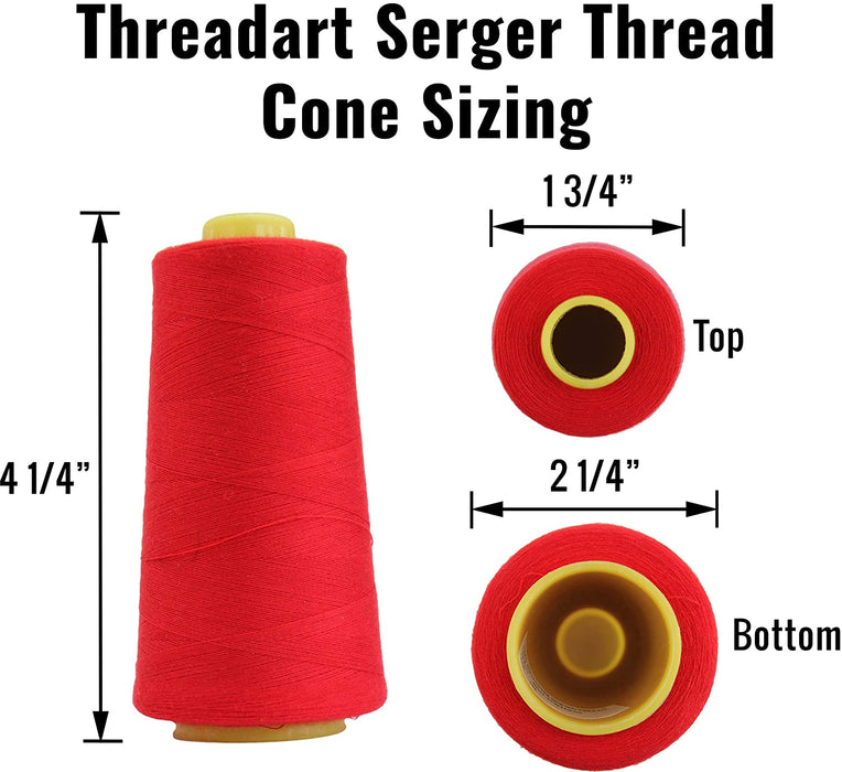 Polyester Serger Thread - Neon Flamingo 909 - 2750 Yards