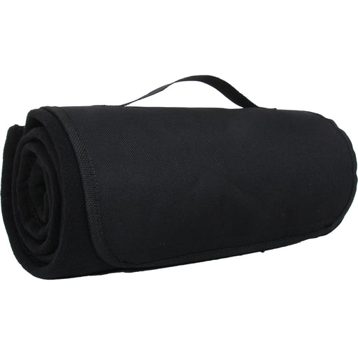 Portable Sports Stadium Blanket with Carrying Strap - Black - Threadart.com
