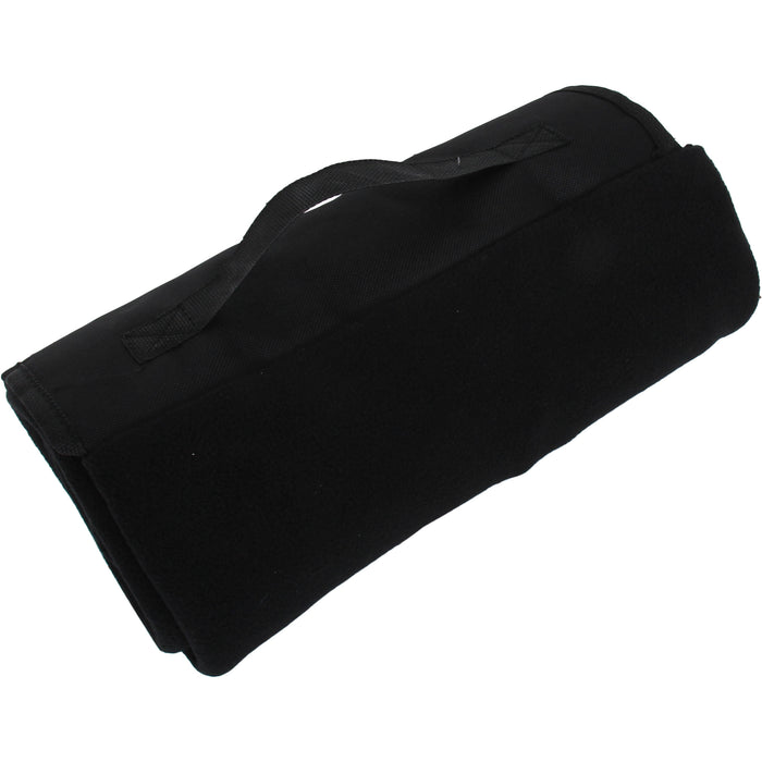 Portable Travel Blanket with Carrying Strap Sports Stadium - Black - Threadart.com