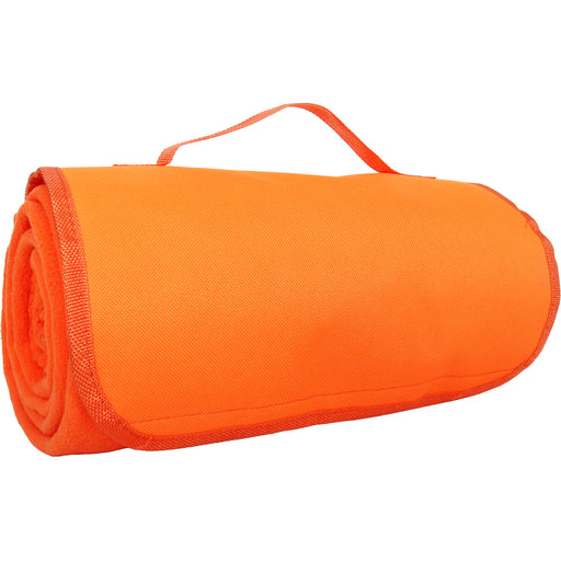 Portable Travel Blanket with Carrying Strap Sports Stadium- Orange - Threadart.com