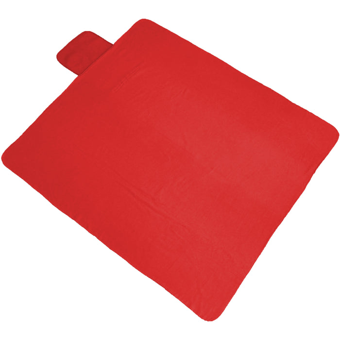 Portable Travel Blanket with Carrying Strap Sports Stadium - Red - Threadart.com