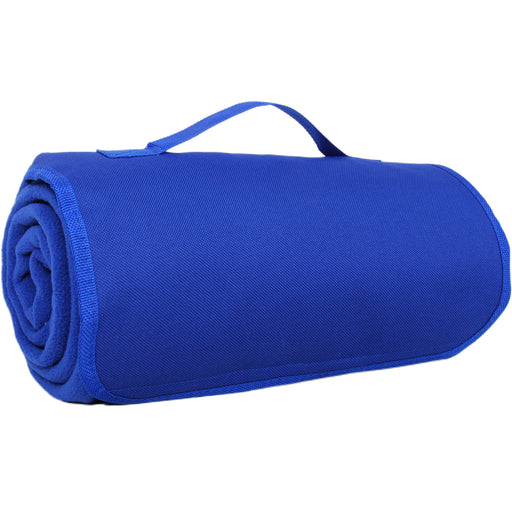 Pack of 3 Portable Travel Portable Blanket with Carrying Strap Sports Stadium - Royal Blue - Threadart.com