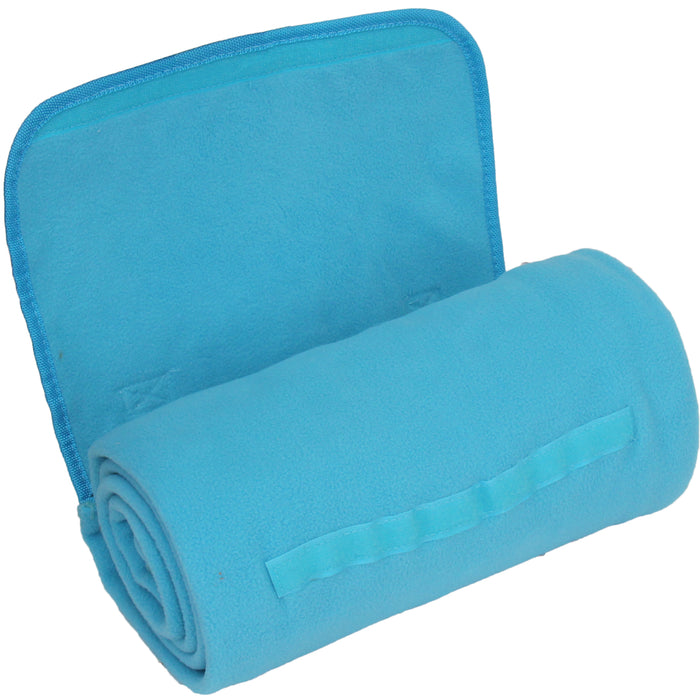 Portable Travel Blanket with Carrying Strap Sports Stadium - Turquoise - Threadart.com