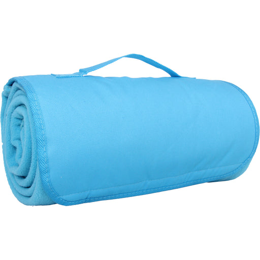 Portable Sports Stadium Blanket with Carrying Strap - Turquoise - Threadart.com