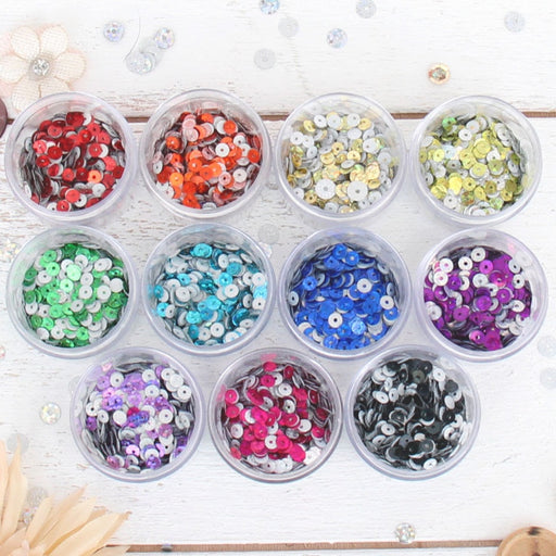 HotFix Loose Sequins - 4MM Hologram Set - 11 Colors - Threadart.com