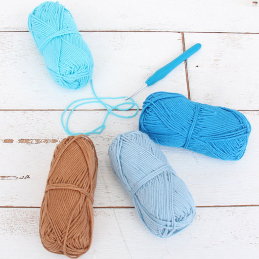 Crochet 100% Pure Cotton Yarn Set  - 4 Pack of Beach Vibe Colors - Threadart.com