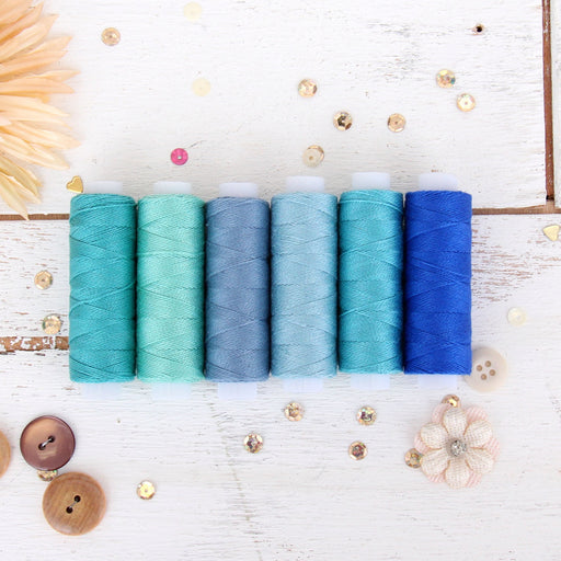 Pearl Cotton Thread Set Ocean Shades - Threadart.com