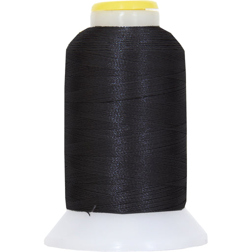 Micro Embroidery & Bobbin Thread 60 Wt No. 102 - Black- 1000 Meters - Threadart.com