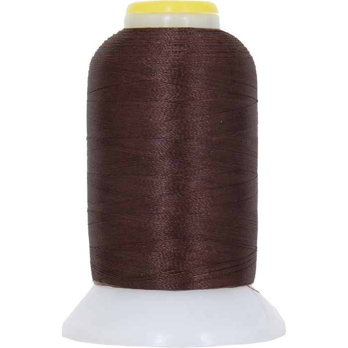 Micro Embroidery & Bobbin Thread 60 Wt No. 425 - Dk Brown- 1000 Meters - Threadart.com