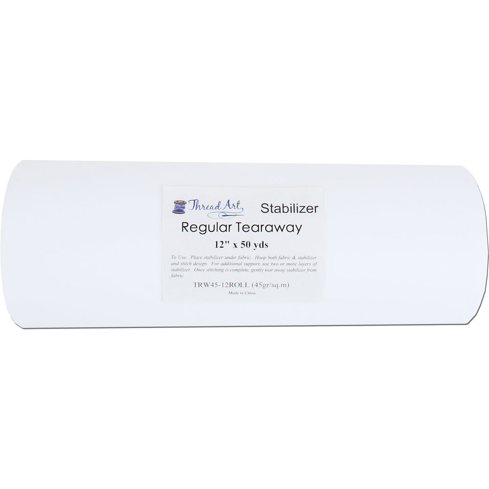 Regular Tearaway Embroidery Backing Stabilizer - 12 inch 50 yd roll - Threadart.com