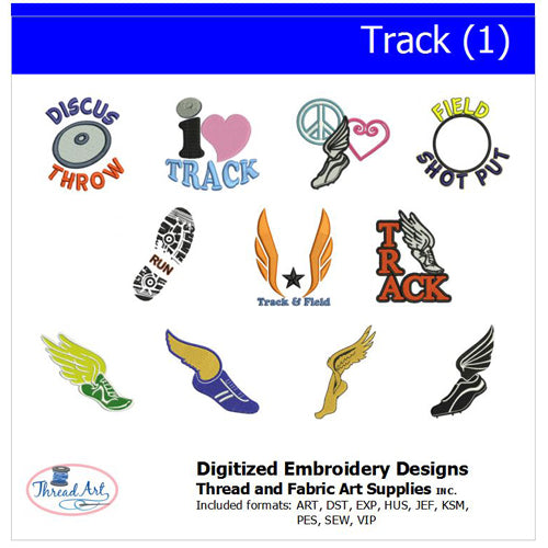 Machine Embroidery Designs - Track(1) - Threadart.com