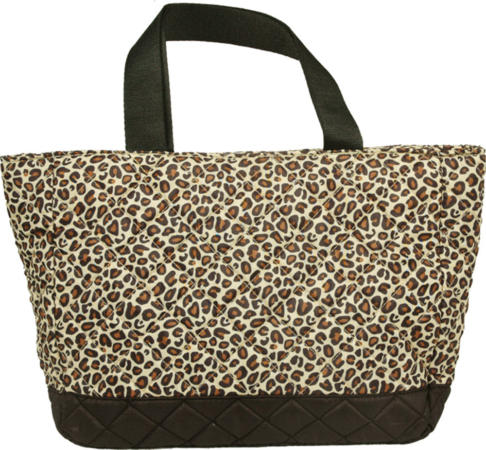 Small Quilted Tote - Leopard - Threadart.com