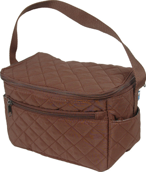 Quilted Lunch Tote - Chocolate/Chocolate - Threadart.com