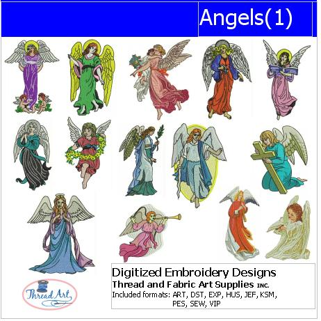 Machine Embroidery Designs - Angels(1) - Threadart.com