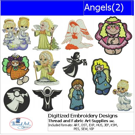 Machine Embroidery Designs - Angels(2) - Threadart.com