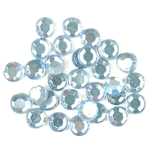 Hot Fix Rhinestones - SS10 - Aquamarine - 1440 stones - Threadart.com