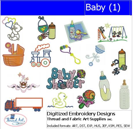 Machine Embroidery Designs - Baby(1) - Threadart.com