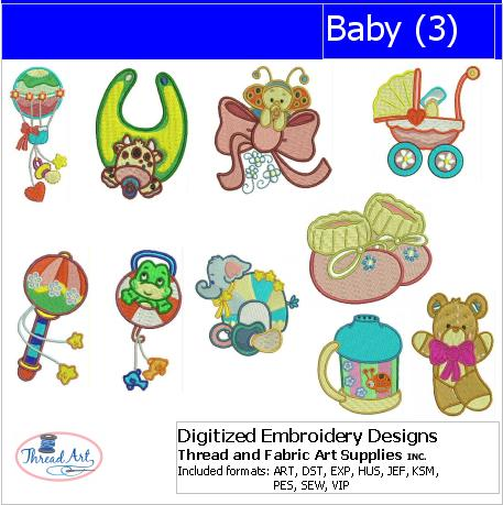 Machine Embroidery Designs - Baby(3) - Threadart.com