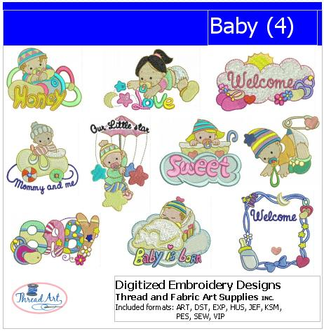 Machine Embroidery Designs - Baby(4) - Threadart.com